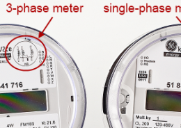 single- vs. 3-phase meter