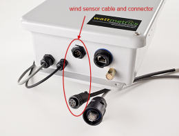 Step 9: connect wind sensor cable to acquisition module